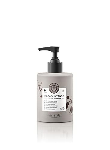 Maria Nila Colour Refresh Farbmaske Cacao Intense | Haarmaske Intensive Haartöne für Mittelbraunes-Dunkles Haar | Haarpflege Strahlendes Ergebnis | Sulfat & Parabenfrei 300ml