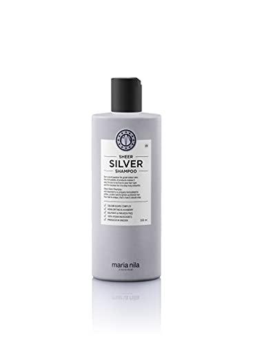 Maria Nila Care & Style Sheer Silver Shampoo, No Yellow Silber Shampoo für ein Kühles Blond, Intensive Haarpflege Anti Gelbstich, Sulfat & Parabenfrei, 350 ml