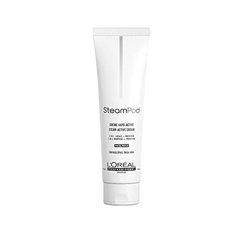 L'Oréal Professionnel Paris SteamPod Glättungscreme für kräftiges Haar, effektiver Hitzeschutz mit Anti-Frizz-Effekt, Haarpflege für geschmeidiges und samtweiches Haar, 150 ml