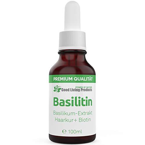 Basilitin Haarkur – Basilikum-Extrakt Haarkur mit Biotin zur Haarpflege von dünnen, trockenen oder brüchigen Haaren (1 x 100ml) – Basilikumöl Haarkur