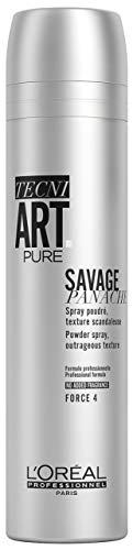L'Oréal Professionnel Paris Tecni.ART Savage Panache, Puder-Spray für mehr Volumen, strukturverleihend, ohne Rückstände, 250 ml