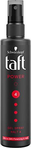 Taft Styling Power Gel Spray Bis zu 24h Fixierung & Halt 4, 150 ml