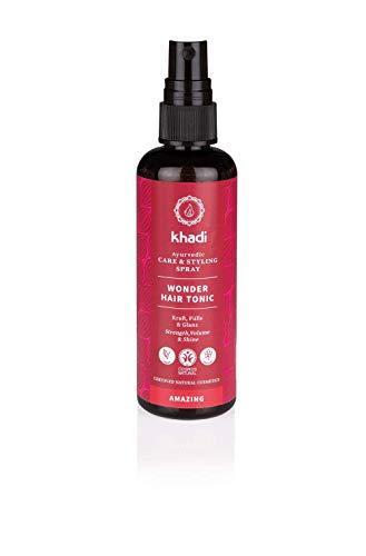 khadi Ayurvedisches Haarwasser I WONDER HAIR TONIC I Haartonikum zur Förderung von Haarwachstum, Volumen und gesunde Kopfhaut I 100% natürlich & vegan I Zertifizierte Naturkosmetik I 100ml