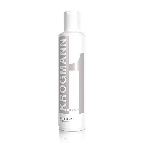 KROGMANN Lift up Volume Shampoo 1, Haarshampoo speziell für dünnes & feines Haar, mehr Volumen & Fülle, reinigt intensiv, seidiger Glanz, ohne Silikon, Friseur-Qualität, 200 ml