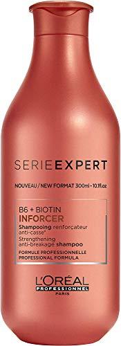 L'Oréal Professionnel Serie Expert Inforcer Shampoo, Anti-Haarbruch Shampoo, kräftigendes Haarshampoo mit Biotin, strapaziertes & sprödes Haar, 300 ml