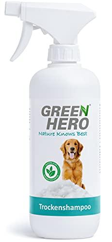 Green Hero Trockenshampoo-Spray für Hunde 500 ml natürliches Hundetrockenshampoo zur Reinigung – entfernt Schmutz Schnelltrocknend - Perfekt für die schnelle Reinigung