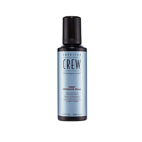 AMERICAN CREW – Fiber Grooming Foam, 200 ml, Stylingschaum für Männer, Haarprodukt mit mittlerem Halt, Stylingprodukt für Struktur, Volumen & natürlichen Glanz, mit UV-Filter