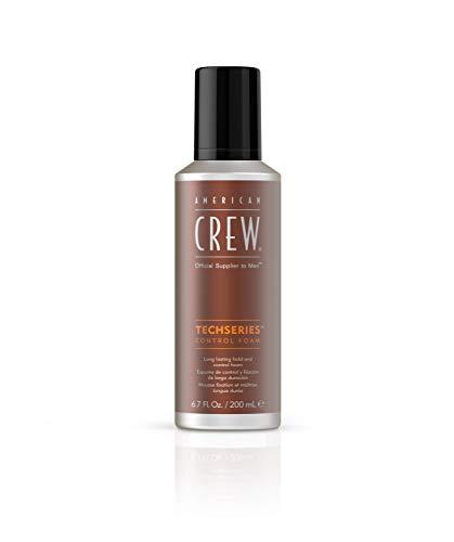 AMERICAN CREW – Techseries Control Foam, 200 ml, Stylingschaum für Männer, Schaumfestiger für starken Halt & mehr Fülle, Stylingprodukt für natürliches Finish mit mittlerem Glanz