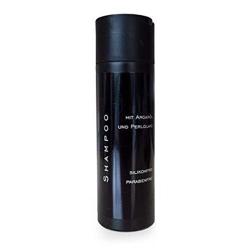 Creme-Shampoo 200 ml mit Arganöl und Perlglanz Pflegeprodukt für Echthaar Extensionspflege Shampoo Haarverlängerung Haarverdichtung silikonfrei parabenfrei