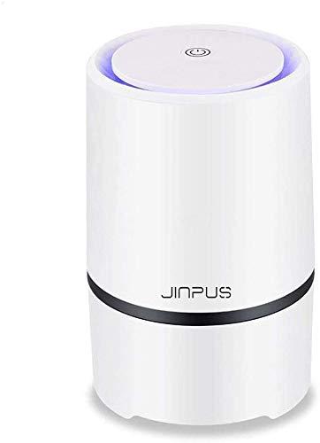 JINPUS Luftreiniger Allergie mit True HEPA Filter, Desktop Luftreiniger Staub Ionisator mit LED, Perfekt gegen Staub und Haustier-Allergene, für Allergiker, Raucher, Asthma