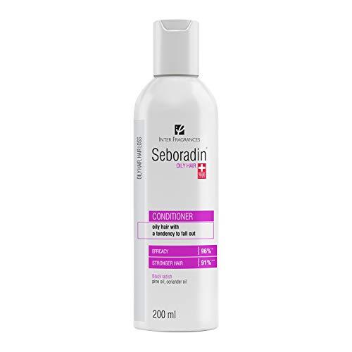SEBORADIN Oily Balm 200 ml, Haarmaske zum Spülen, Natürliche Extrakte für Fettiges, Ausfallendes Haar, Antibakterielle Wirkung, Männer und Frauen