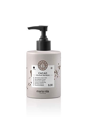 Maria Nila Colour Refresh Farbmaske Cacao, Haarkur mit Braun-Pigmenten zur Auffrischung der Haarfarbe, Haarpflege Sulfat & Parabenfrei 300ml