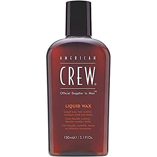 AMERICAN CREW – Liquid Wax, 150 ml, Stylingprodukt für Männer, flüssiges Wachs für mittleren Halt & natürlichen Glanz, Haarprodukt für angenehm griffiges Haar & um Locken zu definieren