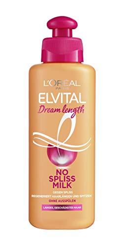 L'Oréal Paris Elvital Leave-In Haarkur gegen Spliss, Für langes, geschädigtes Haar, Ohne Ausspülen, Ohne Parabene, Mit Rizinus-Öl, Dream Length No Spliss Milk, 1 x 200 ml