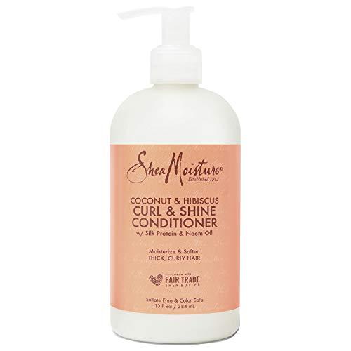 Shea Moisture Coconut und Hibiscus Curl und Shine Conditioner, 1er Pack (1 x 384 ml)