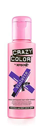 Renbow Crazy Color Semi-Permanent Hair Color Dye violette 43-100 ml, 1er pack (1 x 115 g)
