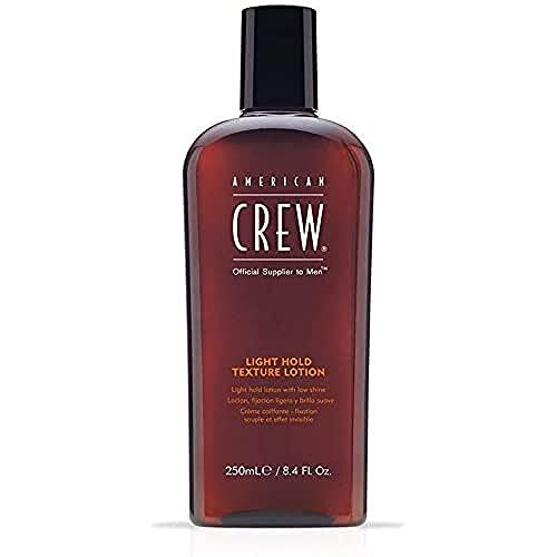 AMERICAN CREW – Light Hold Texture Lotion, 250 ml, Haarlotion für Männer, Haarprodukt mit leichtem Halt, Stylingprodukt für längeres und feines Haar, mit Ginseng & Lanolin
