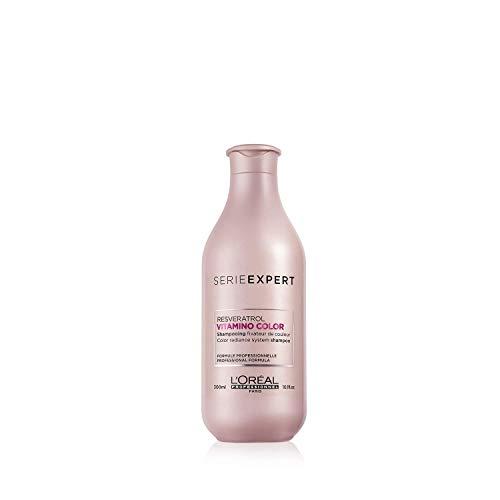 L'Oréal Professionnel Serie Expert Vitamino Color Shampoo, Farbschutz-Shampoo für coloriertes Haar, mit Öl & Resveratrol, für mehr Glanz, 300 ml