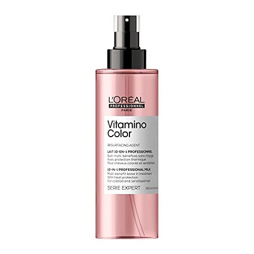 L'Oréal Professionnel   Farberhaltendes Leave-In Spray für coloriertes Haar, Mit Antioxidantien, Serie Expert, Vitamino Color 10in1 Spray, 190 ml