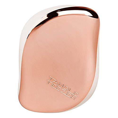 Tangle Teezer, Compact Styler Rose Gold Cream Die Haarbürste für unterwegs Für jeden Haartyp geeignet 5060173373979, Schwarz