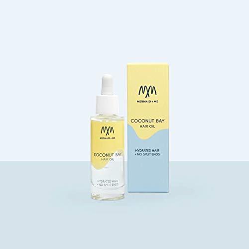Mermaid + Me Coconut Bay Hair Oil (30 ml) – Haaröl mit Arganöl und Anti-Spliss Wirkung – feuchtigkeitsspendendes Haaröl für weiches Haar – sinnlicher Duft