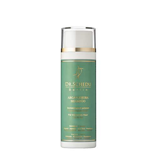 Dr. Schedu Berlin Argan Jojoba Shampoo 200 ml, mit Aloe Vera Gel und Panthenol, für trockenes,gefärbtes und strapaziertes Haar, silikonfrei, tierversuchsfrei