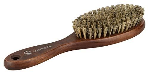 Haarbürste mit extra weichen Echthaar Naturborsten für seidigen Glanz - Echte Qualität hergestellt in Deutschland