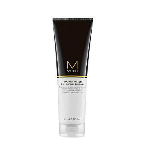 Paul Mitchell MITCH Double Hitter Shampoo & Conditioner - 2-in-1 Deep Cleansing Shampoo für Männer, Haar-Pflege Shampoo-Conditioner für milde Reinigung, 250 ml