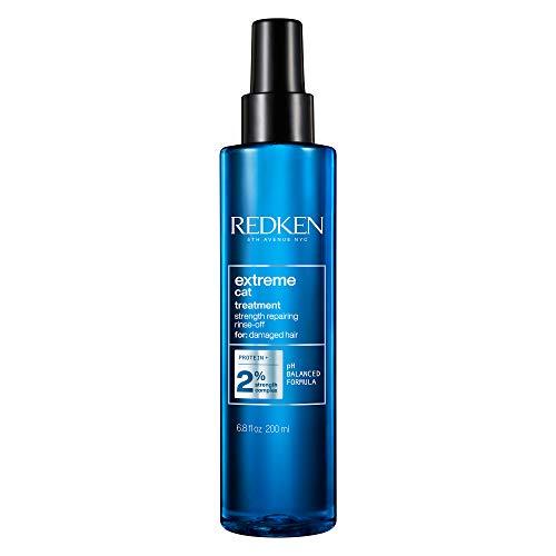Redken Extreme Cat Haarkur Spray, stärkendes Treatment für geschädigtes Haar, Anti-Haarbruch Aufbaupflege, mit Proteinen, belebt & kräftigt, Sprüh-Kur für strapaziertes Haar, 200 ml