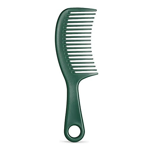 Haarkamm, BESTOOL Breiter Zahnkamm für lockiges Haar, langes Haar, leicht entwirrbare Kämme für Damen, herren oder Kinder, Nass oder Trocken (Grün)