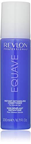 EQUAVE Blonde Detangling Conditioner, 200 ml, entwirrender Leave-in Conditioner, 2-Phasen-Formel mit Anti-Gelbstich-Effekt, Haarkur für blondiertes und aufgehelltes Haar