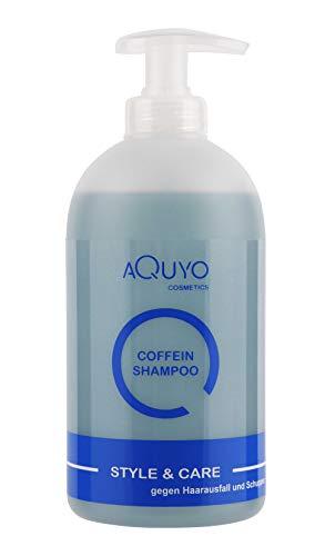 Coffein Shampoo gegen Haarausfall, fettiges Haar und Schuppen (500ml) | Haarpflege mit Koffein, Zink und Biotin lindert Haarausfall und fördert das Haarwachstum | Haarshampoo bei Kopfhautjucken