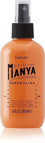 Kemon Hair Manya Adrenaline - Haar-Spray für extra starken Halt, professionelles Styling-Produkt in Salon-Qualität - 200 ml