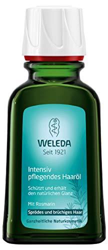 WELEDA Intensiv Pflegendes Haaröl, pflanzliche Naturkosmetik Haarkur mit Rosmarin für sprödes und brüchiges Haar, Schutz und Pflege für einen natürlichen Glanz (1 x 50 ml)
