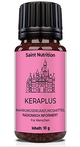 Saint Nutrition® KeraPlus Keratin C30 Globuli | Hochdosiert & Intensiv | mit Keratin, Biotin, Selen, Zink, Hirse und bioaktiven B-Vitaminen | für strapaziertes Haar | Haarvitamine | Vitamin