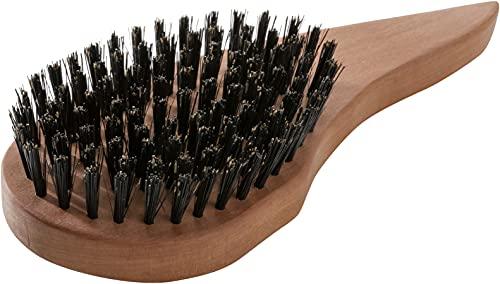 REMOS Natur Haarbürste aus 100% Wildschweinborste mit ergonomischem Griff