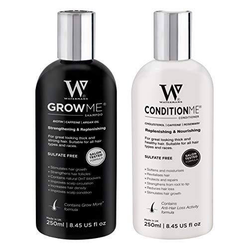 Watermans Haarwachstums-Shampoo und Pflegespülung, Combo Pack Kann Haarausfall reduzieren, Anti haarverlust shampoo UK entwickelt Haarwachstum System, Haarshampoo Vitamin frauen und Männer