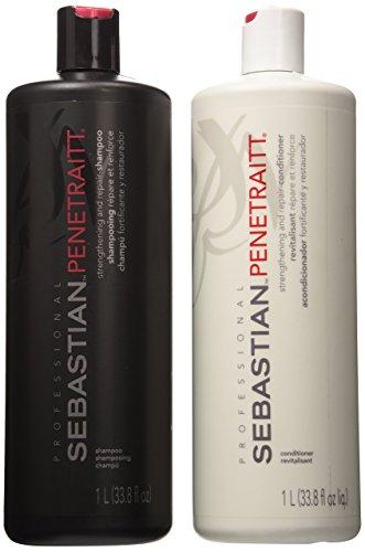 Sebastian Penetraitt Strengthening and Repair Shampoo & Conditioner Liter Set... by Sebastian