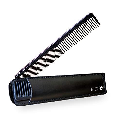 Eico Universal Kamm aus Carbon (antistatisch) – 18 cm Länge – Karbonkamm mit 2 Zahnungen grob und fein – Als Haarkamm und Bartkamm geeignet – Für kurze und lange Haare – Männer und Frauen