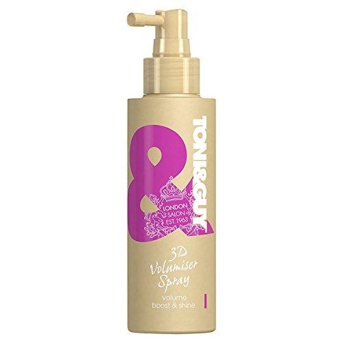 Toni&Guy 3D Volumiser Spray I Peppt dünnes Haar auf I Volumen-Spray zum Stylen feiner Haare I Texture-Spray für Volumen-Boost I Volumen-Haarspray für Frauen I Volumen-Ansatzspray I 150 ml