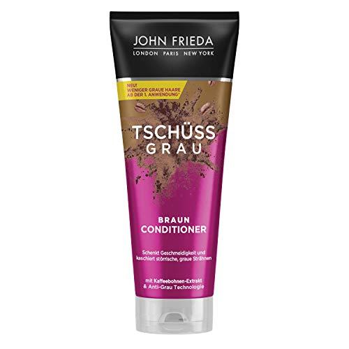 John Frieda Braun Conditioner - Tschüss Grau - Schenkt Geschmeidigkeit und kaschiert graue Strähnchen - Mit Kaffeebohnen-Extrakt, 250 ml 26244