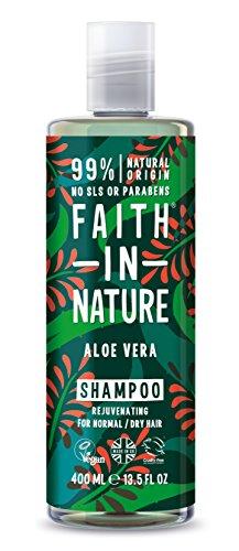 Faith in Nature - 100% natürliches Shampoo mit Aloe Vera für alle Haartypen - für häufiges Waschen - frei Paraben - Vegan
