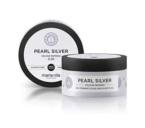 Maria Nila Colour Refresh Farbmaske Pearl Silver | Haarkur mit Violet-Pigmenten für ein Kühles Farbergebnis | Haarpflege Sulfat & Parabenfrei 100ml