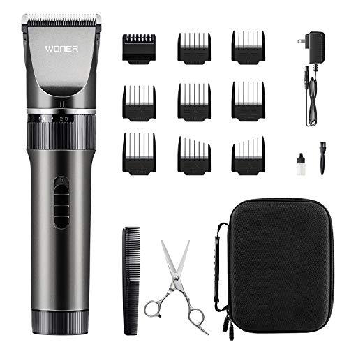 WONER Haarschneidemaschine Profi Haarschneider Herren Haartrimmer mit 35 Längeneinstellungen,Langhaarschneider,16-teiliges Haarrasierer Set für Familien