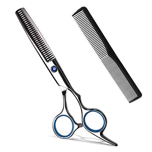Haarschere Friseurschere Effilierschere Scharfe Haarschneideschere Edelstahl Haarschneideschere zum ausdünnen, Präziser Schnitt, Modellierschere für Kinder Damen und Herren