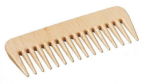 Frisierkamm - hochwertiger Kamm mit grober Zahnung, Lockenkamm, Strähnenkamm, Afrokamm, Holzkamm aus Buchenholz, ideal auch für unterwegs, Länge ca. 135 mm, hergestellt in Deutschland