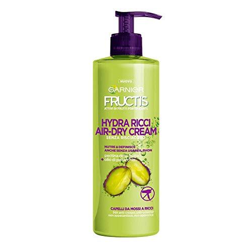 Garnier Fructis Hydra Ricci Air-dry Cream, Haarpflege ohne Ausspülen für gewelltes bis lockiges Haar, Formel angereichert mit Pistazienöl, 400ml