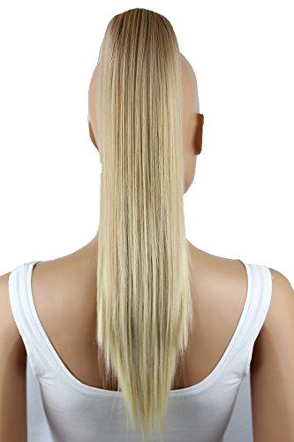 PRETTYSHOP 50cm Haarteil Zopf Pferdeschwanz glatt Haarverlängerung hitzebeständig wie Echthaar blond mix #26T613A H151