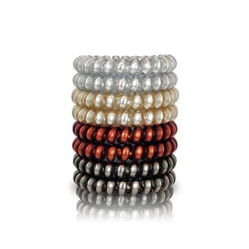 Black Roses ® Original Anti-Spliss Haargummi 8er Set - Haar Spirale für Damen - Invisible Bubble Haarbänder Telefonkabel - Mixed