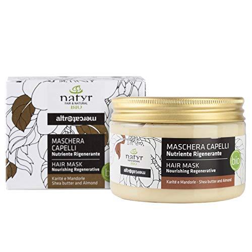 Natyr Bio Locken-Haarkur mit Sheabutter und Mandelöl 150 ml - die Nr.1 Lockenpflege für Naturlocken aus Italien - Haarmaske ohne Silikone und Parabene